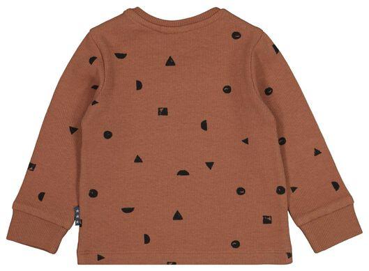 newborn t-shirt rib bruin 68 - 33411614 - HEMA