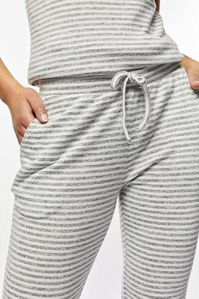 dames pyjamabroek strepen grijsmelange - 1000022619 - HEMA