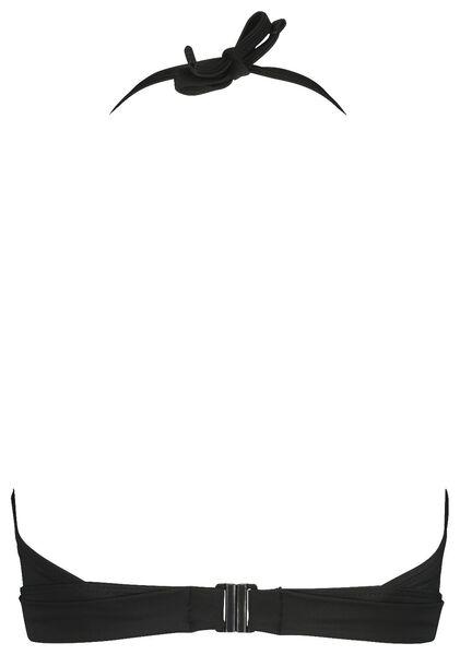dames padded bikinitop wireless zwart zwart - 1000017896 - HEMA