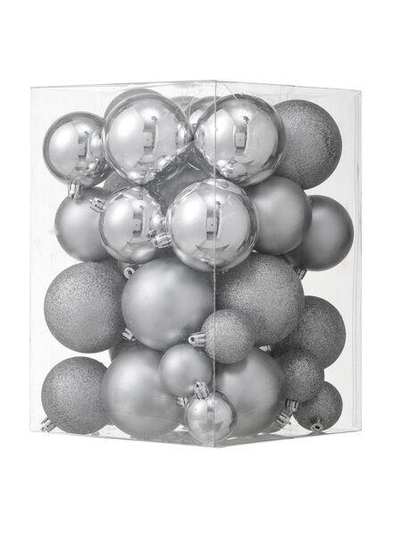 44-pak plastic kerstballen - 25100881 - HEMA