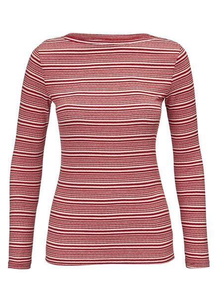 dames t-shirt rood - 1000012497 - HEMA