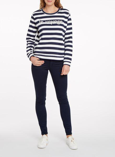 damessweater donkerblauw donkerblauw - 1000011954 - HEMA