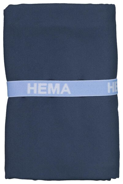 microvezelhanddoek 110x175 blauw - 5290063 - HEMA