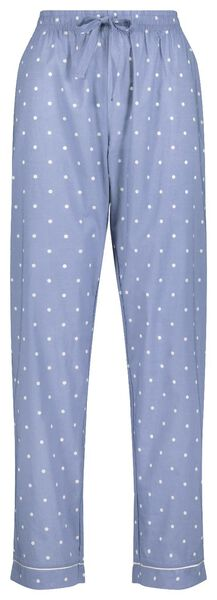 dames pyjamabroek blauw blauw - 1000018748 - HEMA