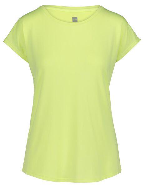 dames sportshirt - loose fit geel geel - 1000019317 - HEMA