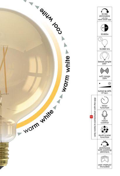 smart LED lamp globe 7W - 806 lm - goud - 20000031 - HEMA