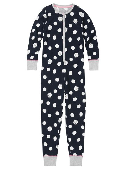 kinder jumpsuit donkerblauw donkerblauw - 1000002807 - HEMA