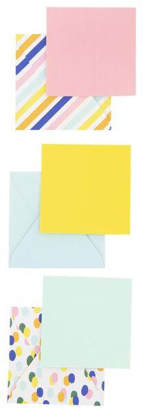 enveloppen - 7x7 - 9 stuks - 14700337 - HEMA