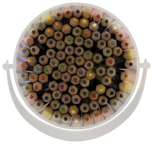 kleurpotloden in emmer - 100 stuks - 15990112 - HEMA