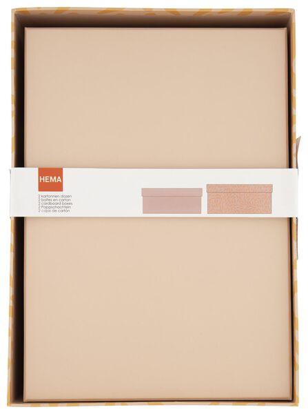 opbergdoos - karton - roze - 2 stuks - 39890050 - HEMA