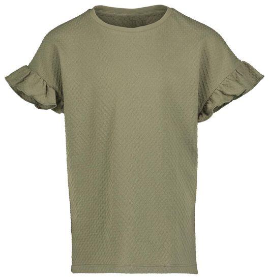 kinder t-shirt legergroen legergroen - 1000018819 - HEMA