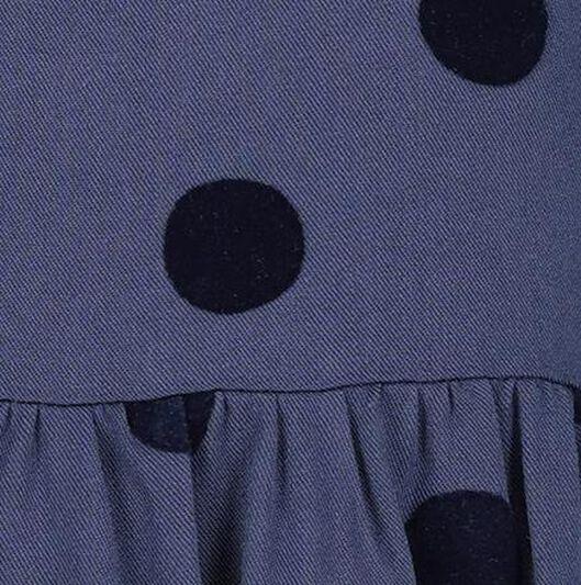 kinderjurk stippen donkerblauw - 1000020635 - HEMA