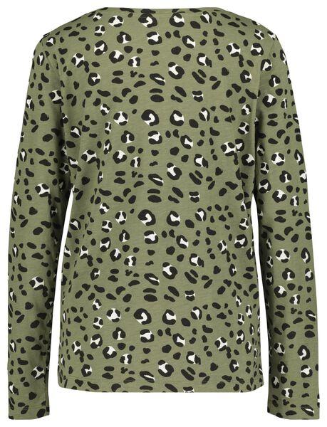 dames t-shirt olijf olijf - 1000018296 - HEMA