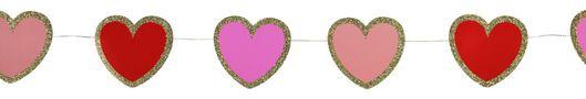 hartjes slinger - 2 meter - Valentijn - 60800821 - HEMA