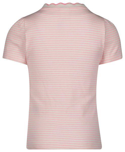 kinder t-shirt rib strepen roze roze - 1000022651 - HEMA