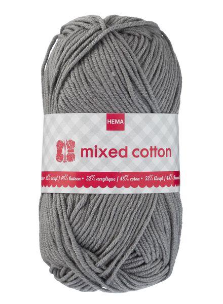 breigaren mixed cotton - grijs - 1400158 - HEMA