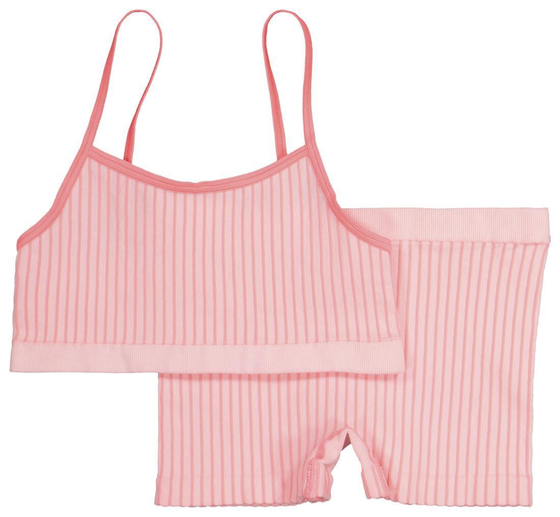 HEMA Kinder Top En Boxer - Naadloos Roze (roze)