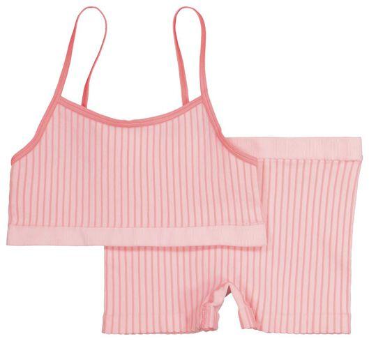 kinder top en boxer - naadloos roze roze - 1000019319 - HEMA