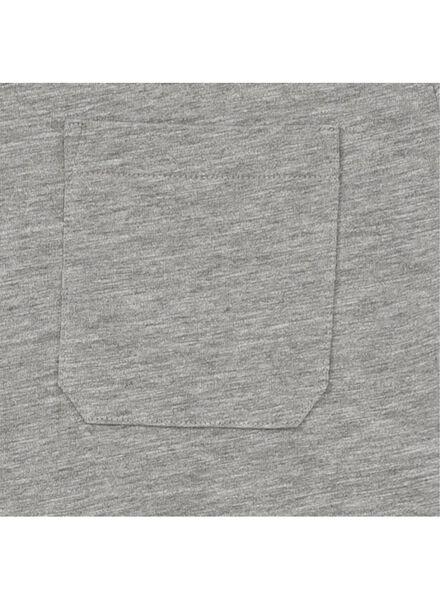heren t-shirt grijsmelange grijsmelange - 1000009588 - HEMA