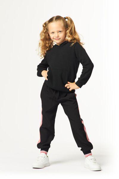 kinder capuchonsweater zwart zwart - 1000024990 - HEMA