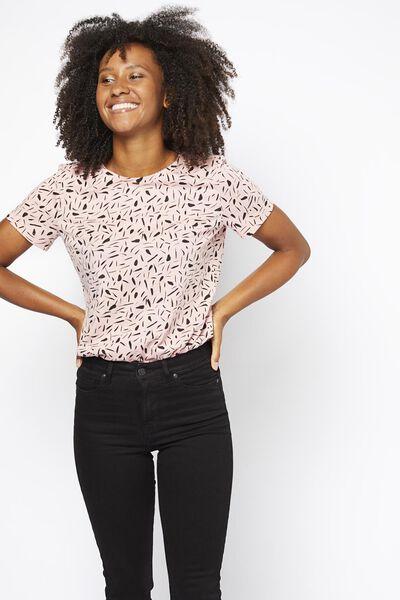 dames t-shirt roze roze - 1000021352 - HEMA