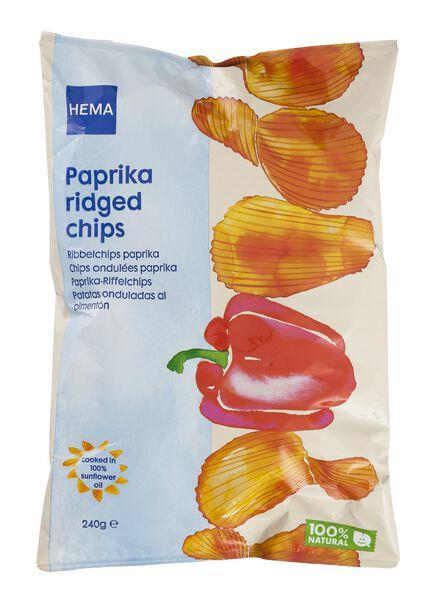 ribbelchips paprika - 10661127 - HEMA