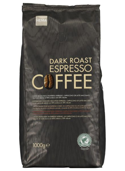 koffiebonen dark roast espresso - 1 kg - 17100013 - HEMA