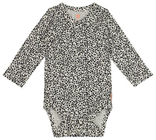 newborn overslagromper - met bamboe - stretch zwart zwart - 1000017646 - HEMA