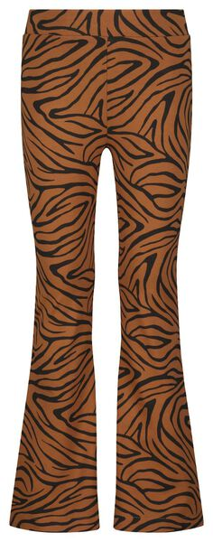kinderlegging flared zebra bruin bruin - 1000024411 - HEMA