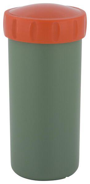 drinkbeker met deksel 300ml groen/rood - 80600113 - HEMA