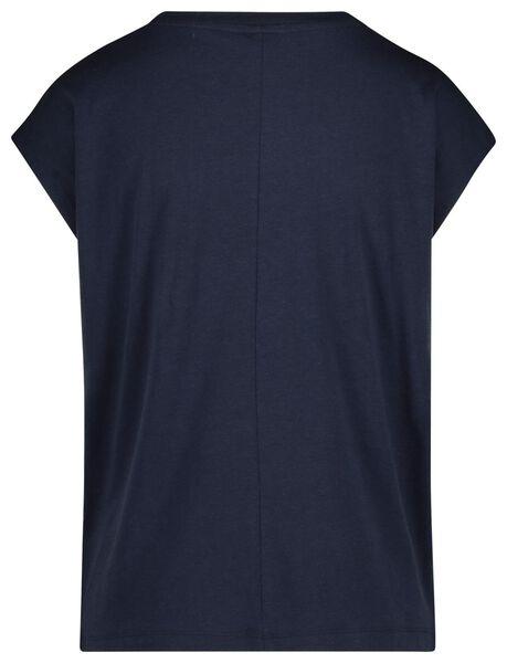 dames t-shirt donkerblauw donkerblauw - 1000019808 - HEMA