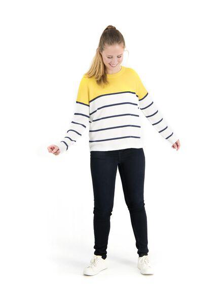 damestrui gebreid geel geel - 1000014756 - HEMA