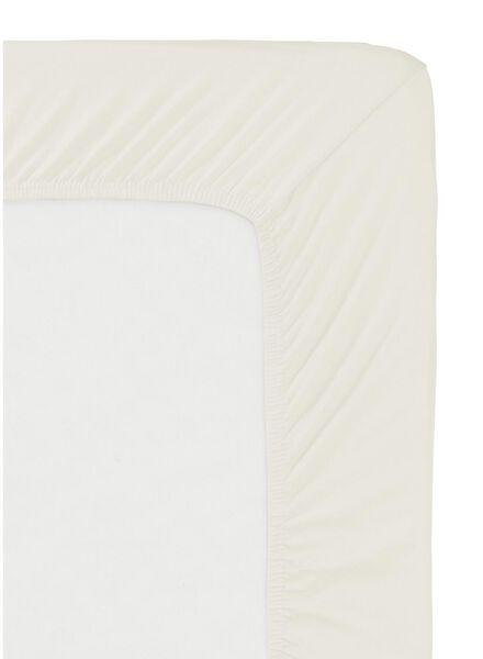 hoeslaken - jersey katoen - 90 x 200 cm - ecru ecru 90 x 200 - 5140061 - HEMA