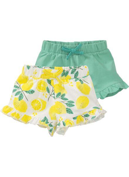2-pak baby shorts multi multi - 1000008019 - HEMA
