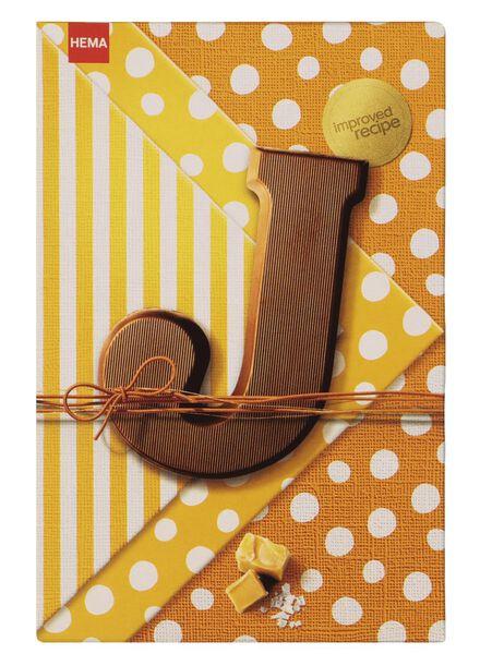 chocoladeletters karamel zeezout - 135 gram karamel zeezout - 1000016869 - HEMA