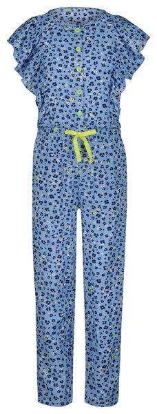 kinderjumpsuit bloem blauw 110/116 - 30851568 - HEMA