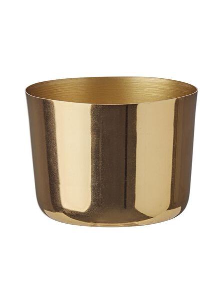waxinelichthouder - 7 x 9 cm - goud - 13382052 - HEMA