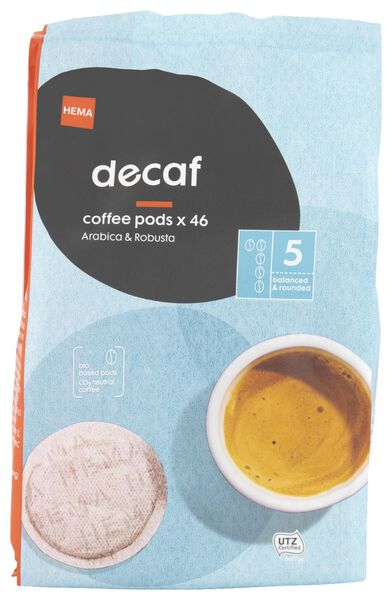 koffiepads cafeïnevrij - 46 stuks - 17150005 - HEMA