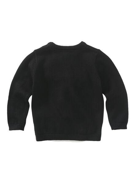 baby trui zwart zwart - 1000010677 - HEMA