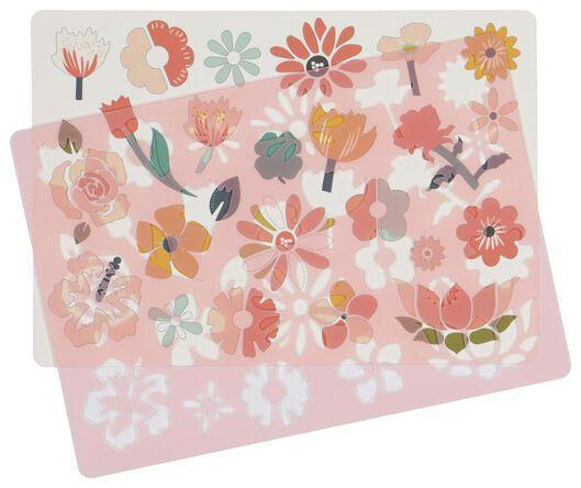 tekensjabloon bloemen - 15900056 - HEMA