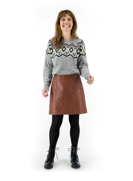 damesrok bruin bruin - 1000016942 - HEMA