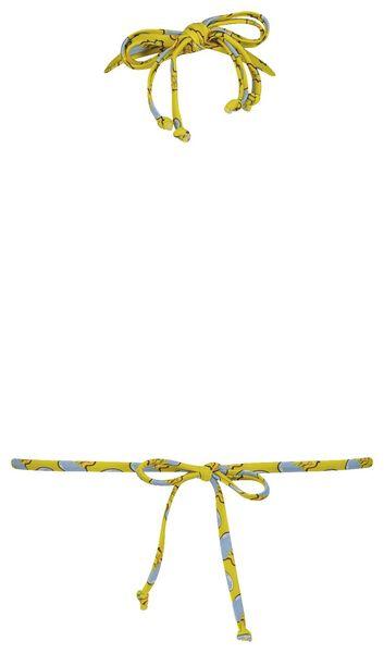 dames padded triangle bikinitop - Studio Job geel geel - 1000018462 - HEMA