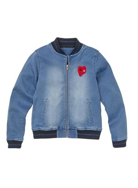 kinder bomberjas donkerblauw donkerblauw - 1000008654 - HEMA