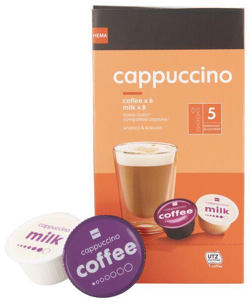 koffiecups cappuccino - 8 stuks - 17100130 - HEMA