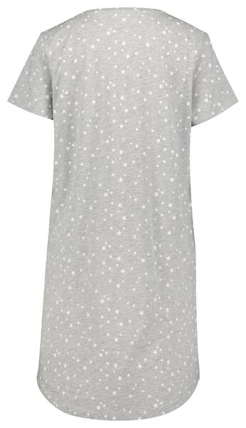 dames nachthemd katoen strepen grijsmelange - 1000025101 - HEMA