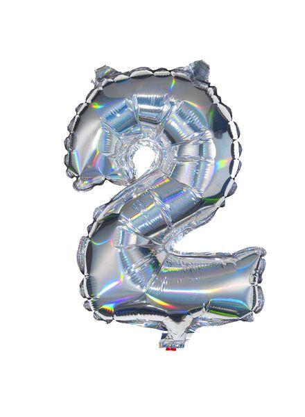 folieballon 2 - zilver 2 zilver - 60800460 - HEMA