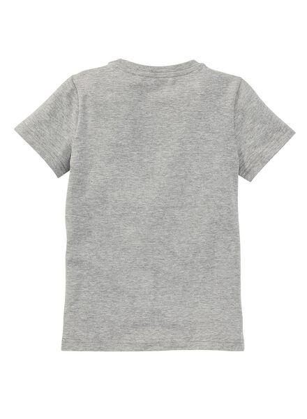 kinder t-shirt - biologisch katoen lichtgrijs lichtgrijs - 1000003388 - HEMA