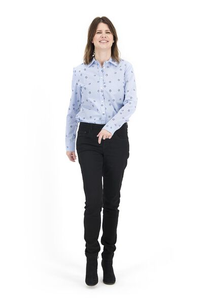 damesblouse blauw blauw - 1000018138 - HEMA