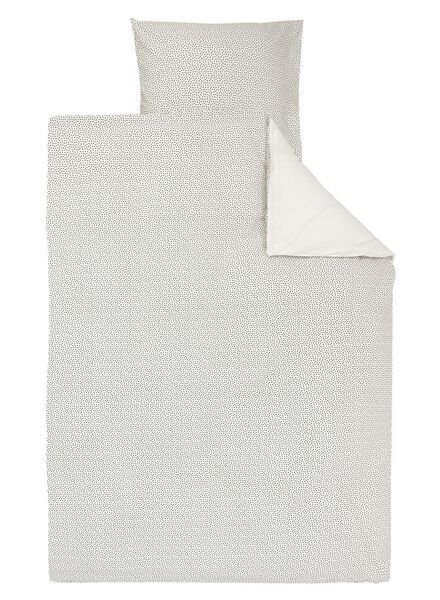 dekbedovertrek - zacht katoen - 140 x 200/220 cm - wit stip - 5700167 - HEMA