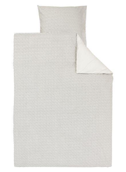 dekbedovertrek - zacht katoen - 140 x 200/220 cm - wit stip wit 140 x 220 - 5700167 - HEMA
